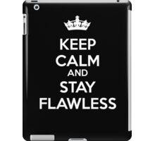 Keep Calm and Stay Flawless (White) iPad Case/Skin