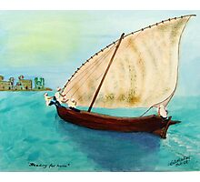 Dhow - Heading for home Photographic Print