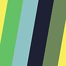 Diagonal Stripes - Yellow Green Blue by jezkemp