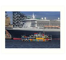 The Queen and the Dazzle Ferry Art Print