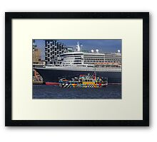 The Queen and the Dazzle Ferry Framed Print