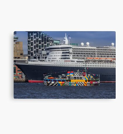 The Queen and the Dazzle Ferry Canvas Print