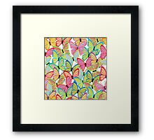 Seamless pattern with butterfly Framed Print