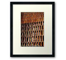 Building Shutters. Framed Print