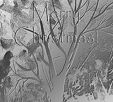 Silver Trees Merry Christmas by Ruth Palmer