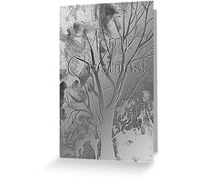 Silver Trees Merry Christmas Greeting Card
