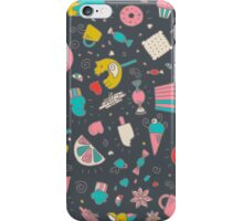 Hand drawn dessert pattern iPhone Case/Skin