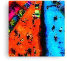 Frog Town Art Walk Canvas Print