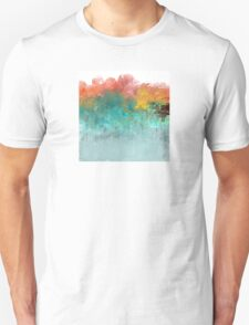 Water Flowing Up Abstract Design T-Shirt