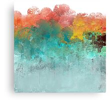 Water Flowing Up Abstract Design Canvas Print