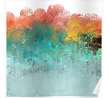 Water Flowing Up Abstract Design Poster
