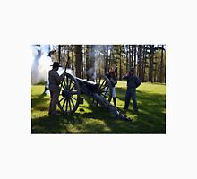 Firing the Cannon at Camp Ford. Unisex T-Shirt