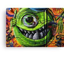 Mike Wazowski from Monsters Inc - Hosier Lane, Melbourne Canvas Print
