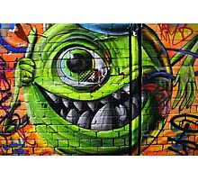Mike Wazowski from Monsters Inc - Hosier Lane, Melbourne Photographic Print
