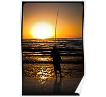 Fishing at Dawn Poster