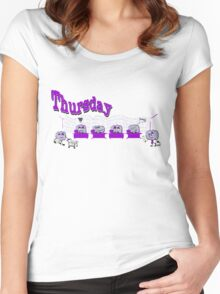 Days of the week - Thursday at the office Women's Fitted Scoop T-Shirt