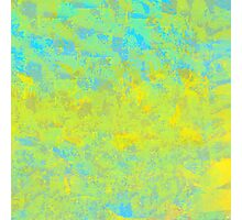 Abstract in Blue, Gold, and Green Photographic Print