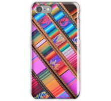 Angled Cloth and Leather Belts iPhone Case/Skin