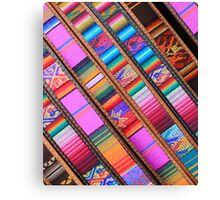 Angled Cloth and Leather Belts Canvas Print