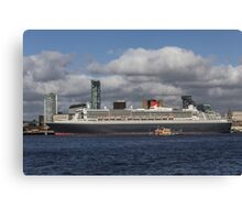 Queen Mary 2 and Dazzle Ferry Canvas Print