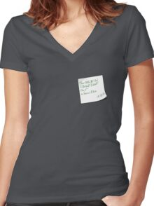R.A.B's Note Women's Fitted V-Neck T-Shirt