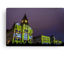 Liver Building Yellow Submarine Projection Canvas Print