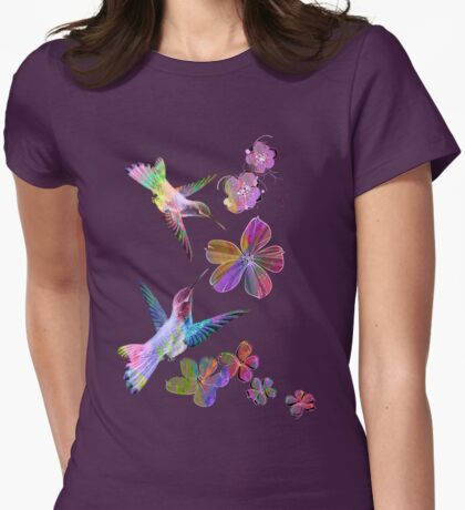 Birds. Womens Fitted T-Shirt
