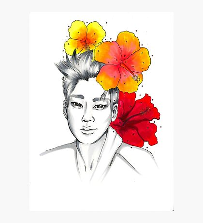 I am your FLOWER BOYFRIEND || Hyunseong  Photographic Print
