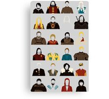 Game of Characters Canvas Print