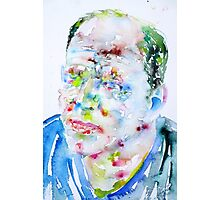 JACKSON POLLOCK - watercolor portrait.2 Photographic Print
