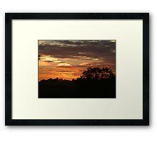 Sunset over North Yorkshire Framed Print