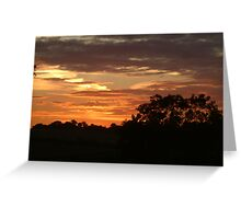 Sunset over North Yorkshire Greeting Card