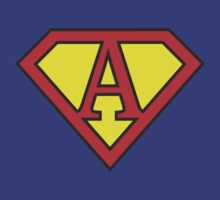 A letter in Superman style by Stock Image Folio