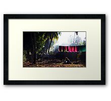 The washing day Framed Print