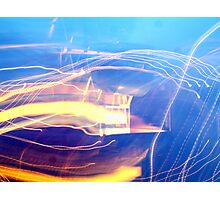 A Light Painting Abstract Photographic Print
