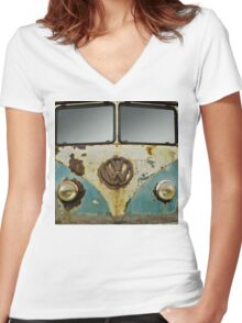 VW Rusty Women's Fitted V-Neck T-Shirt