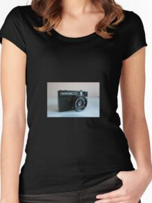 Retro Camera Women's Fitted Scoop T-Shirt