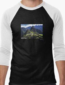 Machu Pixel Men's Baseball ¾ T-Shirt