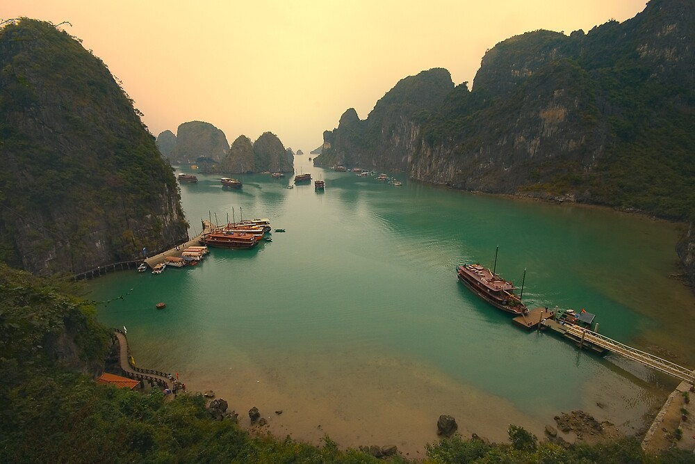 Halong Bay by Michael Garbutt