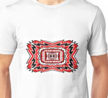 Red & Black Mirror Art Unisex T-Shirt