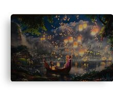 Disney Tangled Disney Rapunzel Floating Lanturns  Canvas Print