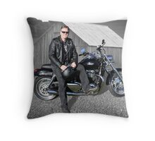 Tony's Triumph Thunderbird Throw Pillow