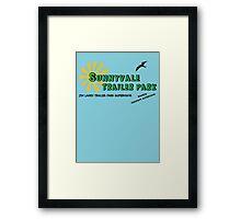 Sunnyvale Trailer Park Framed Print