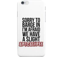 A Slight Apocalypse - Rupert Giles BTVS iPhone Case/Skin