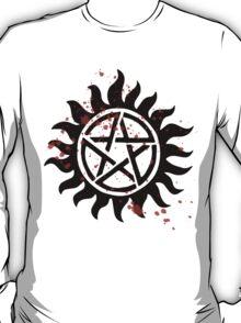 Supernatural Demon Protection Blood Spattered Symbol T-Shirt