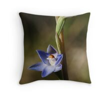Peppertop Sun Orchid (Thelymitra brevifolia) Throw Pillow