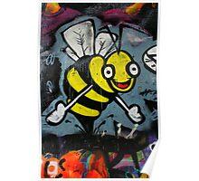 Bumble Bee Hugs - Hosier Lane, Melbourne Poster