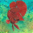Red Betta by VictoriaBetta