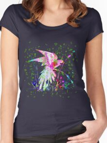 Lovely Parrot. Women's Fitted Scoop T-Shirt