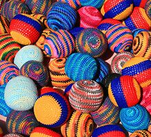 Knit Balls in Many Colors by rhamm